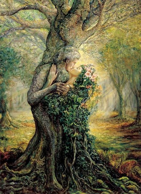 albero donna uomo